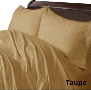 Comfort Sheet Collection AU Sizes Select Deep Pocket & Item Taupe Striped