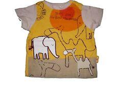 ABSORBA jolie T-shirt Taille 56/62 jaune-beige avec motifs animaliers!!!