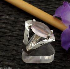 Markenlose Echte Edelstein-Ringe mit Rosenquarz und Cabochon