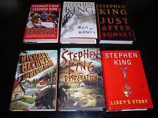 6 Stephen King LISEY'S STORY,REGULATORS,DESPERATION,FAITHFUL,BAG OF BONES +1 1ST