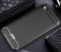 For Xiaomi Redmi 6A Case Carbon Fibre Cover & Glass Screen Protector