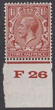 GB KGV 1.1/2d Rosso-Marrone SG420 F26 controllo George V 1924-26 Nuovo di zecca Hinged TIMBRO