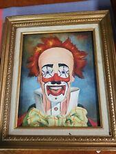 KL Niemann Orginal  Scary Clown Painting  1968