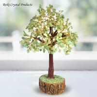 Green Jade Tree Crystal Stone Tree for Reiki Healing and Vastu Correction