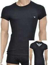 Cotton Patternless Stretch T-Shirts ARMANI for Men