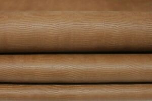 NATURAL BROWN TEJUS veg tan Calfskin Calf leather 2 skins 14sqf 0.9mm #A7352