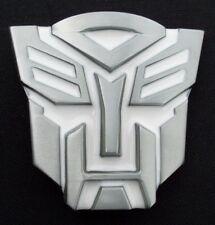 3d Transformer Metal Belt Buckle White