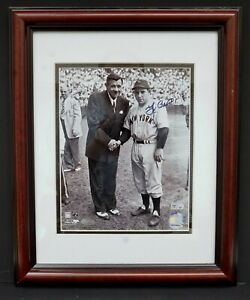 Autographed Yogi Berra w/ Babe Ruth 8x10 Photo Steiner New York Yankees B9656