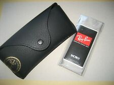 100% Genuine Ray Ban Box, Black Leather Case & Cleaner Only ( NO GLASSES )