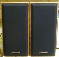 Vintage Pair Polk Audio M4 Monitor Series 2 Bookshelf Speakers - Brown Grain