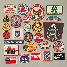 Vintage Lot of 25 Souvenir PATCHES KC ROYALS TWA PREAKNESS FIGURE SKATING +++