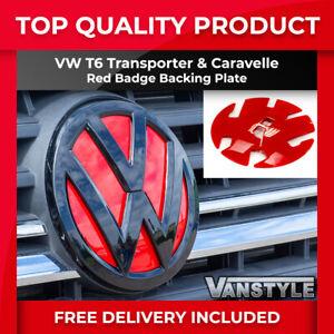 VW T6 TRANSPORTER & CARAVELLE RED FRONT BADGE BACKING PLATE TRIM UPPER GRILLE