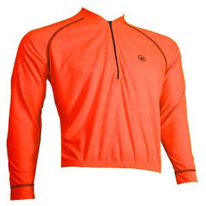 SALE $19.95 Canari Paceline PLUS SIZE Jersey Mens 2XL Long Sleeve Neon Orange