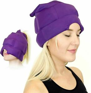 Headache Migraine Relief Cap Ice Gel Mask Cool Pack Hat Reduce Stress Free Ship