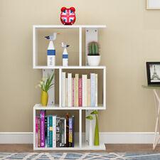 3 Tier Cube Storage Bookshelf S-Shape Bookcase Closet Organizer Dvd Shelf Rack