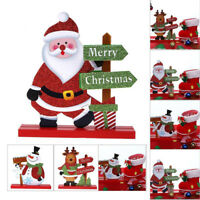 Santa Claus Snowman Christmas Xmas Decoration Living Room Table Ornament Craft!
