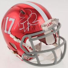 Tua Tagovailoa Autographed Alabama Chrome Mini Helmet - Signed Beckett BAS