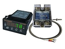24V DC 1/32DIN PID Temperature Controller, Green+ 25A SSR + K thermocouple
