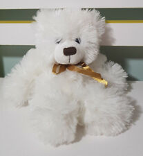 BOCCHETTA WHITE TEDDY BEAR PLUSH TOY! SOFT TOY ABOUT 14CM SEATED KIDS TOY!