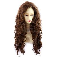 Wiwigs Long Wild Untamed Brown & Auburn Mix Curly Ladies Wig