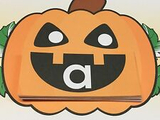 Jack O Lantern - Uppercase Lower case Match Pumpkins -  Laminated Activity Set