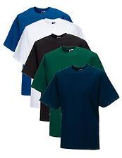 Russell Plain WHITE BLACK BLUE or GREEN Cotton Tee T-Shirt Tshirt XS-4XL XXXXL