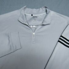 ADIDAS CLIMALITE SOFT POLY 1/4 ZIP GOLF PULLOVER--2XL--VR WOLF LOGO-TOP QUALITY
