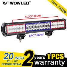 WOW - 20 Inch 126W CREE LED Spot Flood Combo Driving Work Light Bar ATV UTE Boat