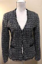 Boston Proper Women's size 10 Black and Silver Tweed Glitter Blazer Jacket