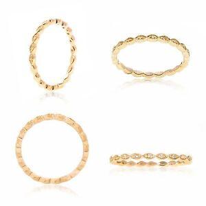 14K Yellow Gold Diamond Ring Band 0.03 Carats Size 6.5