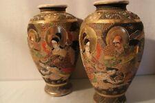Grande paire de vases Satsuma Japon début 20e