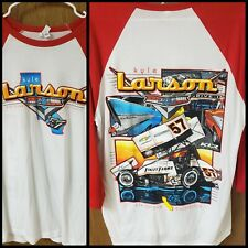 KYLE LARSON Double Sided Sprint Car Jersey T-Shirt Shirt World Of Outlaws L
