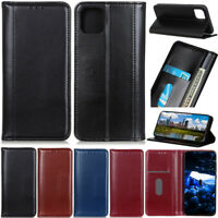 Book Wallet Leather Flip Folio Case Cover For iPhone 7 8 Plus 12 11 Pro XR XSMax