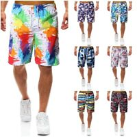 Summer Mens Quick Dry Swim Trunks 3D Printed Surfing Beach Board Shorts Swimwear