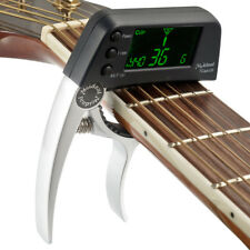 Guitar Capo with Built-in Tuner detects sound automatically and shows the note