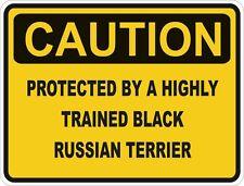 Raza de perro terrier ruso negro precaución Pegatina Mascota para coche de parachoques Locker
