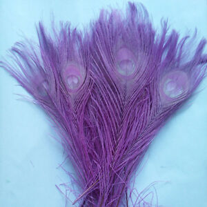 Wholesale 10-100pcs natural Dyed peacock tail feathers10-12inches/ 25-30cm