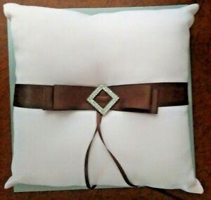 Weddingstar Ring Pillow (Pink & Brown)