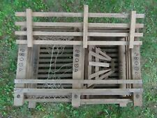 Amazing! Vintage Large Lobster Trap Cage Wooden Rope Net Bricks! 33 x 26 x 14