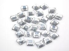 STRASS Quadrati 6mm x6mm 50pz hotfix cristallo trasparente quadrato Termoadesivi