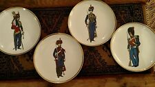 (4) Vintage Garde Imperiale Plates Depicting Russian Soldiers