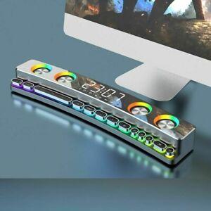Soundbar Bluetooth Wireless Game Speaker Usb 3d Stereo Subwoofer Aux Fm 3600mah