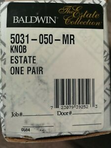 BALDWIN 5031-050-MR Knob Estate One Pair