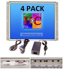 4 Pack 19 Inch Arcade Game LED Monitor for Arcade Cabinets, Jamma MAME MultiCade