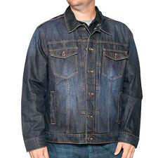 Big and Tall Men's Denim Jean Jacket; Original Unlined Denim Coat for Big Men
