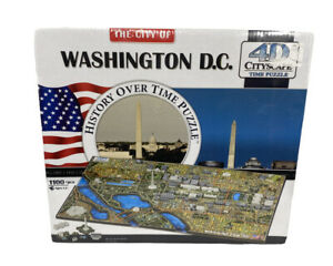 4D Cityscape Jigsaw Puzzle - Washington D.C. City Map With Time Layer