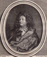 Portrait XVIIIe Charles De La Fosse Peinture Fresque Tuileries Versailles 1786