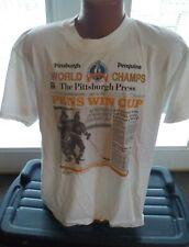 1991 Stanley Cup Champions PITTSBURGH PENGUINS T-shirt XL MARIO LEMIEUX MVP