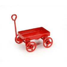 miniature red toy wagon. 1 inch. 1 piece per package. Fairy Garden Dollhouse
