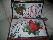 """PAIR OF STUNNING ZIPPERED HOLIDAY PILLOWS - EA 20""""X14"""" - BRAND NEW W' $45EA TAGS"""